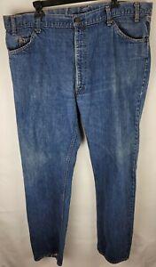 Vintage Levi Strauss Mens Blue Medium Wash Regular Fit Tapered Leg 42x32 Jeans
