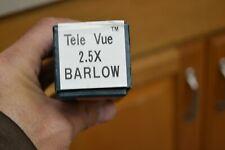 Tele Vue 2.5X telescope eyepiece Televue Barlow original box Japan