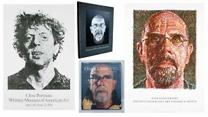 Bundle- 4 Assorted Chuck Close Books and Posters
