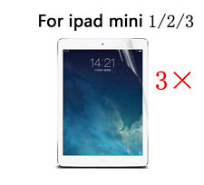 3 X Clear HD LCD Screen Protector Cover Guard Shield For Apple iPad Mini 1 2 3