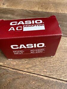 Vintage Circa 1997 Casio Mains Adaptor Model AD-K65EL  AC 240v + Original Box