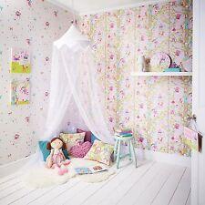 WOODLAND FAIRIES GLITTER WALLPAPER - PINK - ARTHOUSE 667000 - NEW GIRLS