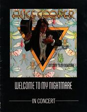 ALICE COOPER 1975 WELCOME TO MY  NIGHTMARE TOUR CONCERT PROGRAM  / VG 2 NMT