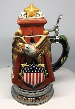 Anheuser-Busch A & Eagle Stoneware character stein. NEWEST from Budweiser 2017