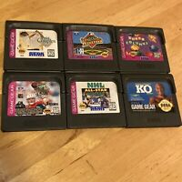 Lot Of 6 Sega Game Gear Games Sports KO Boxing Golf NHL Baseball NFL Columns