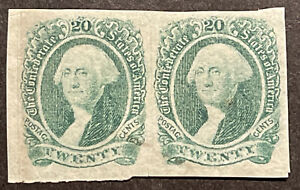 TDStamps: US Confederate States CSA Stamps Scott#13 Unused NG Crease, Pair