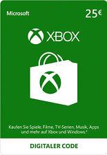 Microsoft Xbox Live 25 Euro Gift Card MS Xbox 360 & One 25 € Guthaben Karte [EU]
