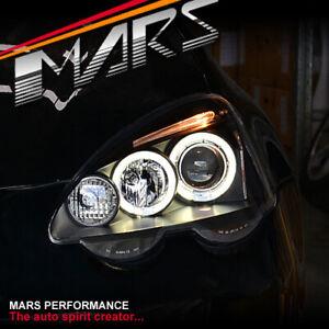 Black LED HALO Projector Head Lights for Honda Integra DC5 2001-2004 & Type R