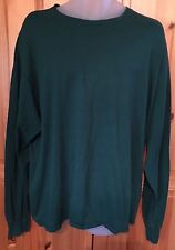 Hanes Men's XXL Long Sleeve Cotton T Shirt Green New Without Tags