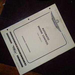 Eclipse Pioneer Automatic Engine Control Type 1359-6-E Overhaul Manual