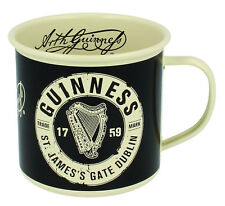 Guinness Enamel Mug Cream & Black Harp Design -   New