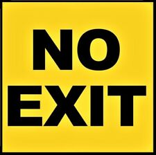 No Exit sign decal sticker