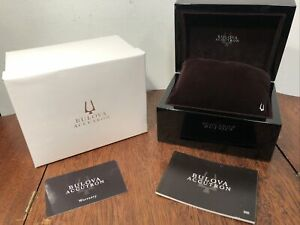 NEW Authentic BULOVA ACCUTRON Black Lacquer Presentation Watch Box