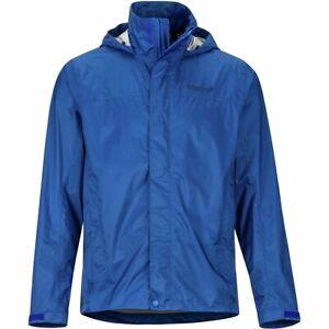 Marmot PreCip Eco Nylon Jacket Mens Medium Surf Blue Rain Wind Packable $100