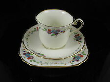 VINTAGE ART DECO PLANT TUSCAN BONE CHINA TRIO CUP SAUCER PLATE