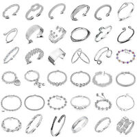 925 Silver Plated Charm Cuff Bracelet Bangle Fashion Jewelry Women Party Gift