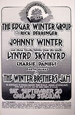 EDGAR & JOHNNY WINTER / LYNYRD SKYNYRD OAKLAND CONCERT TOUR POSTER -Reproduction