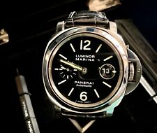 """Panerai Luminor PAM 104 S/Steel Watch -44mm- """"O"""" Series c.2012 -Boxes/Papers"""