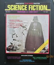1977 Science Fiction Horror & Fantasy Magazine #1 The Making Of Star Wars Nm