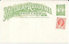 Rhodesia & Nyasaland - S Rhodesia KGVI 1/2d card uprated with QEII 1/2d for RC?