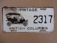 Vintage British Columbia Antique Auto License Plate 2317