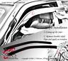 Tape-On Rain Guard Window Visor Dark Grey 2pcs For 1995-2005 Pontiac Sunfire