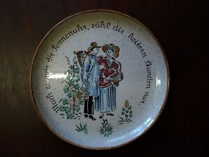 GERMAN HANDGEMALT PLATE DISH.
