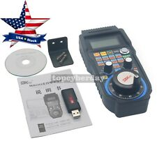 CNC MACH3 Wireless Electronic 4-Axis Manual Controller USB Handle MPG US