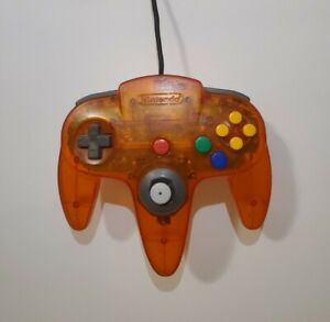 Official OEM Fire Orange Controller Authentic Nintendo 64 N64 Tested Fast Ship