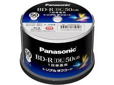 New! 50 Panasonic Bluray BD-R DL 50GB 4x Speed Dual Layer Inkjet Printable Discs