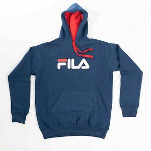 FILA Classic Pure Logo Hoodie Navy Blau Hoody Sweatshirt NEU
