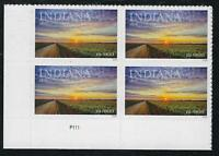 SCOTT 5091 2016 INDIANA STATEHOOD ISSUE PLATE BLOCK OF 4 MNH OG VF!