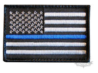 THIN BLUE LINE USA POLICE CHARITY SWAT FBI US FLAG VELCRO PATCH UNITED STATES