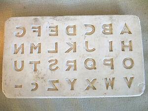 Ceramic Mold of the Alphabet