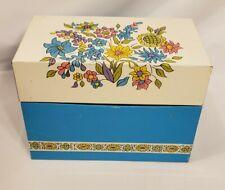 Vintage Ohio Art Metal Tin Recipe Box Flowers