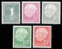 BUND 1960, MiNr. 179-285 Y II, tadellos postfrisch, Mi. 70,-