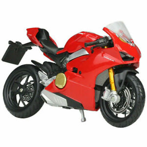Bburago 1:18 Ducati Panigale V4 Red MOTORCYCLE BIKE DIECAST MODEL NEW IN BOX