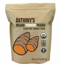 Organic Turmeric Root Powder (2lb) by Anthony's Gluten-Free & Non-GMO (32 oun...