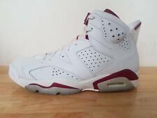 b8aef6d57654ae Nike Air Jordan 6 Retro Maroon Mens Basketball Shoes Trainers UK 9