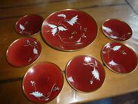 Lot de 6 sous tasses et une coupe en porcelaine Furstenberg Germany KP