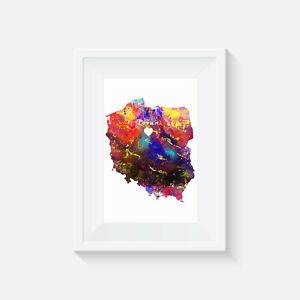 Poland, Torun, Watercolour, print, picture, poster, heart illustration, decor