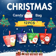 Wedding Christmas Candy Box Paper Gift Bags Xmas Packaging Wrap Cookie Carrier