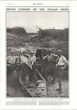 1917 British Gunners Italian Front Major Vh Simon 2nd Lt C Norrie Miller