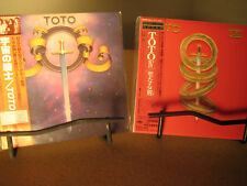 TOTO 1ST & 4 RARE JAPAN REPLICA'S TO THE ORIGINAL OBI 2 CD SET ONE TIME PRICE