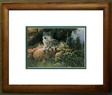 Soul Mates Fox by Larry Fanning Wildlife Wolves Animals Double Matted & Framed