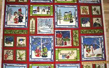 "Cool Characters Snowman Christmas Fabric Panel 23""    #76317"
