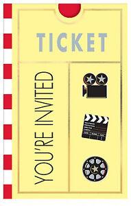 8 x Hollywood Invitations Invite cards Oscar Movie party Hollywood party Supplys