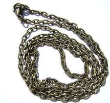 Chain Necklace Handmade Antiqued Brass Steel ALL SIZES 16