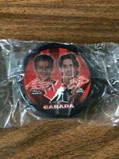 2002 McDonalds Team Canada Olympic Hockey Puck Paul Kariya Joe Sakic New