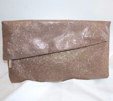 229ed7b70 Nordstrom Clutch Evening Purse w/ Gold Bronze Shimmer Finish Silvertone Zip  Pull